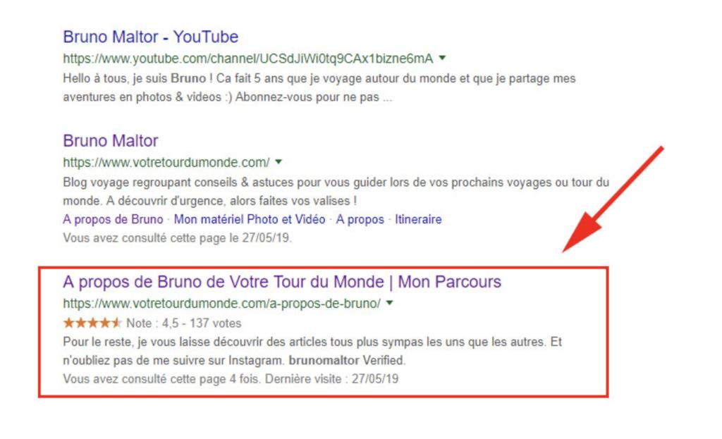 Recherche google À propos Bruno Maltor