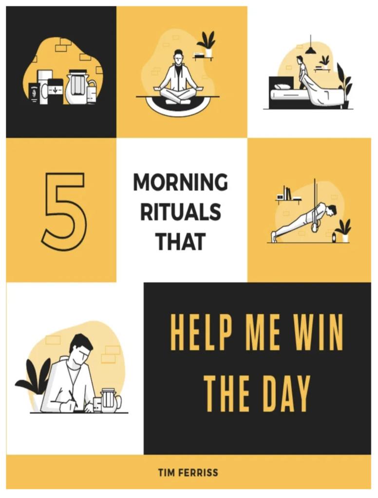 5 rituels du matin : bonus de Tim Ferris - Milieu de Tunnel de vente
